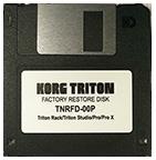 KORG TRITON FACTORY RESTORE DISK TNRFD-00P $10