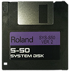ROLAND S-50 Operating System Startup Disk V 2 OS Boot - $8