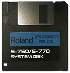 ROLAND S-750 S-770 Operating System Startup Disk V 2.25 OS Boot - $8