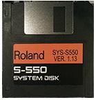 ROLAND S-550 Operating System Startup Disk V 1.13 Boot - $8