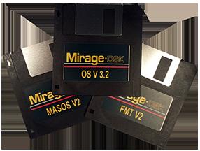 Ensoniq Mirage 3 Disk Set: Operating System OS V 3.2, MASOS v2.0, and FMT2 - $15