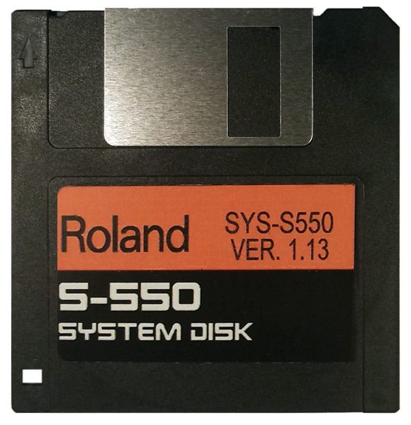 Roland S-550 System Startup Disk OS boot disk Version 1.13 - $8 with E-Z PayPal Checkout & super fast shipping!